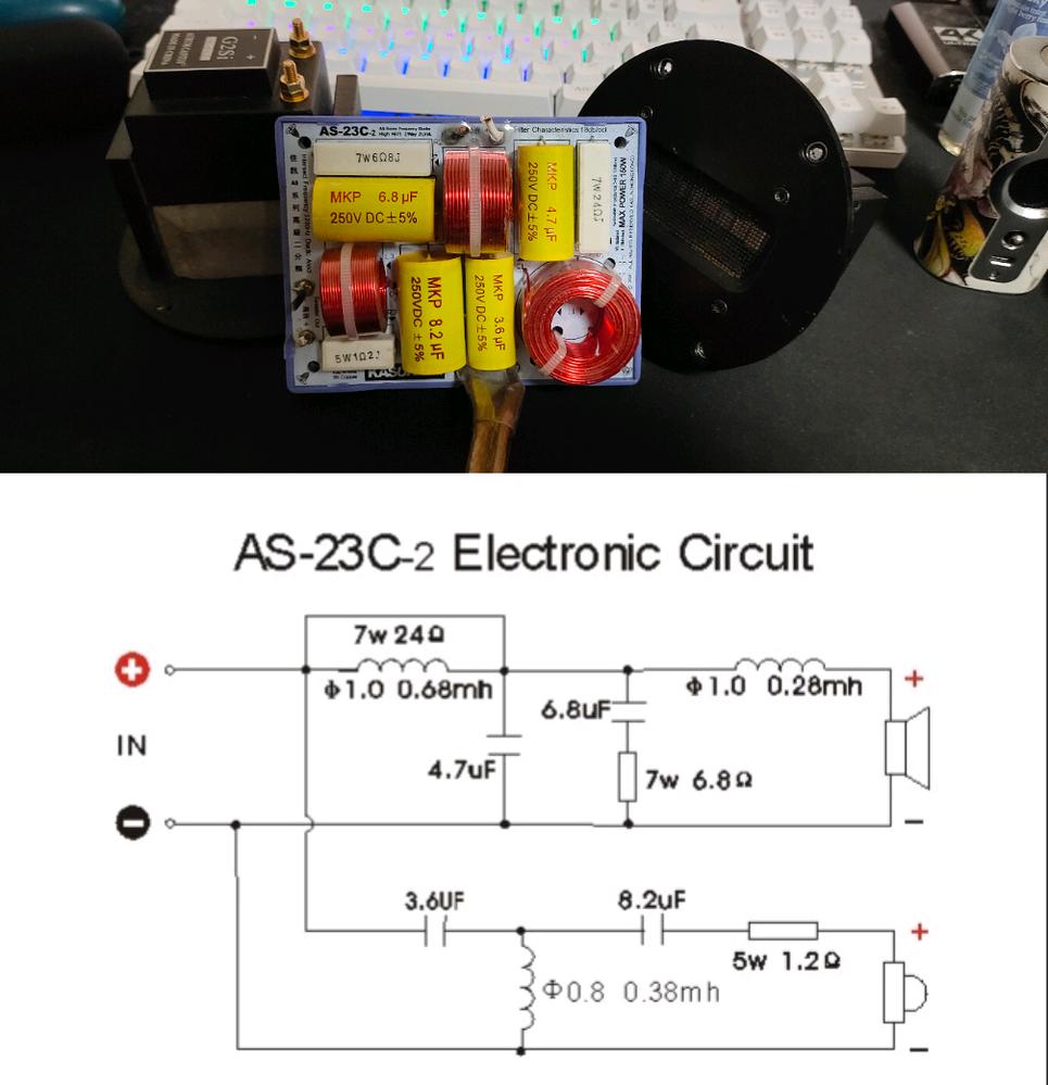 Aliexpressで2way用のクロスオーバーネットワークを購入しました、18db octの様ですが、余分な抵抗が入っている様に思います。(能率を下げる目的?) ツィーターの能率合わせは別の回路で行いたいので全て取り外し、バイパスしようと思うのですが何か回路的に問題がありますか?