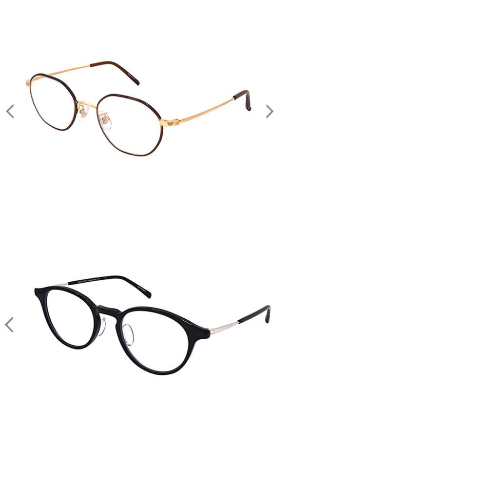 眼鏡の購入を検討しているんですが、どちらのモデルにしようか悩んでいます。 試着したのですが、どちらのモデルも、自分的にはかなりしっくりきてます。 皆様は、上と下どちらの方がオシャレだなと思いますか?