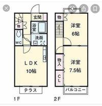 階段の面積について質問があります。 ネットで見つけた、写真の間取りのアパートを作りたいと建設家に言ったところ、「階段が1.5畳じゃ収まらない、トイレも収まらない」と言われ全体的に縦に長くした間取りを提案されました。 なんとしてでもこの間取りでやりたいのですが、やはり生活に無理が出ますか? トイレは0.75畳でも大丈夫なのです。 階段が1.5畳、その下にトイレを設置したいです。 ネットにある間...