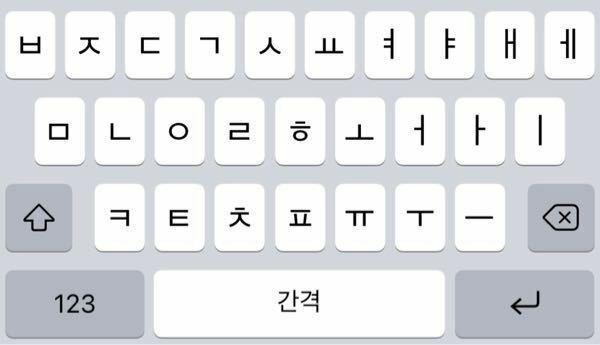ハングルについての質問です。 얘 この字の右側はこのキーボードのどこを押せばでてきますか?