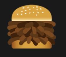 LINEのスタンプについての質問です。 LINEの初期から付いてるスタンプの1つに、食べ物が主となっている物がありますが、その中の1つにこんなスタンプ(画像)がありました。肉にしては形が変だし、...