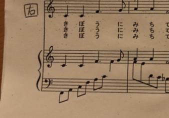 今、学校の校歌を練習しているのですが、左手?なぜ、2つあるのか分からなくて、教えてくださると嬉しいです もし良ければ、どのように弾けば良いか教えてください ピアノ慣れてないので、よろしくお願いします