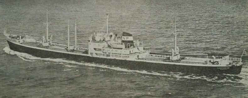 小麦ってどうやって荷役するんですか? この船(Oinoussios)は1962年ブリティッシュコロンビアから中国に小麦を運びました