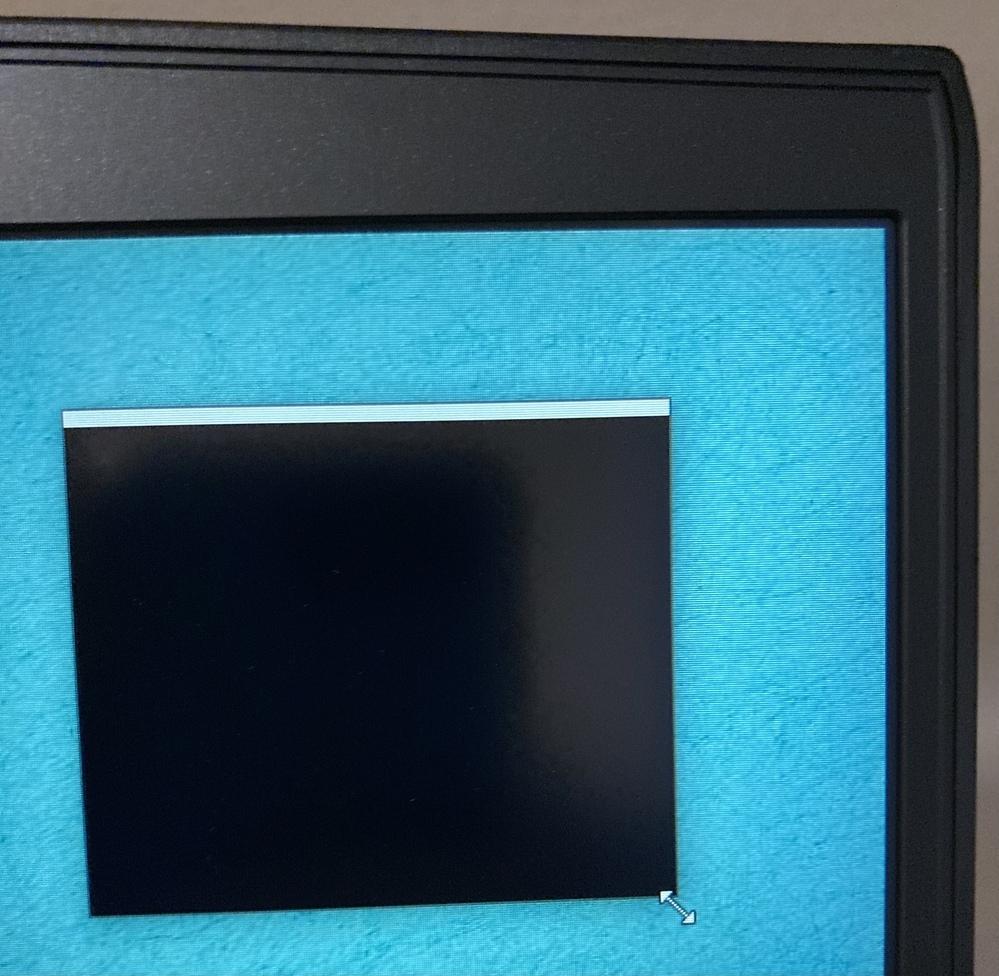 windowsのデスクトップに黒い点があって、広げるとこんな感じになります。 これは何ですか?どうしたら治りますか? 教えて頂きたいです。