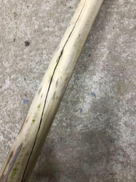 柄 ひび割れが出来たので、これ以上広がらない補修とかありますか?