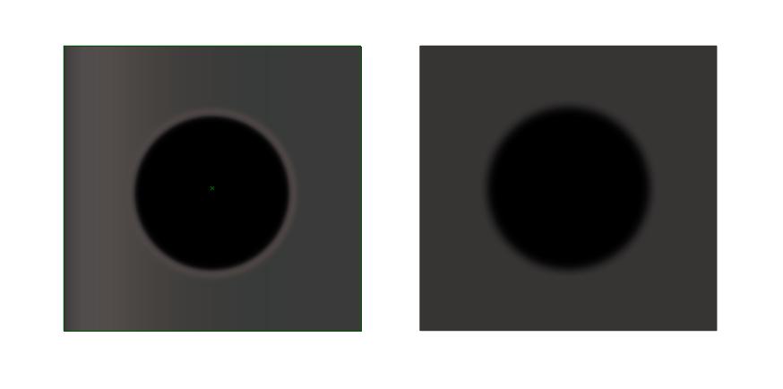 イラレを使用しており、グラデーションをかけたオブジェクトに、ぼかしをかけたオブジェクトを乗せると、画像の左側の図ように、 上に乗せたオブジェクトの周りに白い縁が出てしまいます。 スタイライズと...