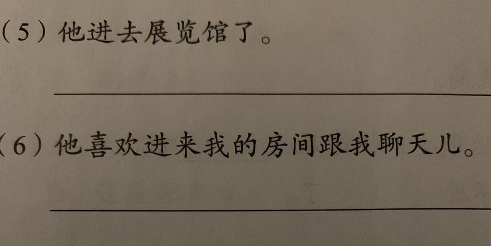 中国語 (5)〜(6)には誤った箇所があります。 それぞれの文を訂正して正しい文章にして下さい。よろしくお願いします。
