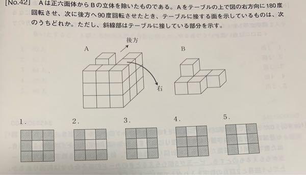 この問題の解き方を分かりやすく教えて欲しいです。 因みに正答は3です