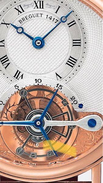 ブレゲ コンプリケーションについて 最近時計画像を見て回って楽しんでいるのですが、 画像のようにトゥールビヨンの上の20までの表示は何を表す機能なのでしょうか?