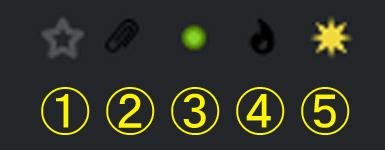 メーラーThunderbirdを初めて使います。 受信トレイの画面で図のように5個のアイコンがあります。 それぞれのアイコンの意味を教えてください。 宜しくお願いします。