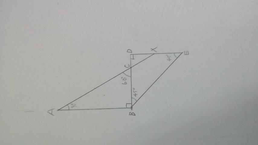 下の図の三角形CDXの面積が求まっていたらABの長さって求めれるようになりますかね? 試しに書いてみたんですがどうなるかわからないので100コインです