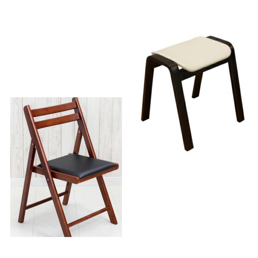 来客用の椅子について悩んでおります。 ダイニングチェアをベンチタイプから1人掛けの椅子に買い替えた為、来客時に椅子がありません。 来客用の椅子を2つか3つ購入したいのですが、スツールと折り畳みの木の椅子で悩んでおります。 どちらがおすすめでしょうか。