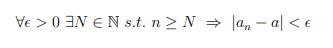 ε-N論法についてです 任意のNにおいてn≧Nをとるnの意味があまりしっくりこないのですがどのようなものなのでしょうか? n→∞とはまた違うのですか? また等号をつける必要もないと聞いたのですが...
