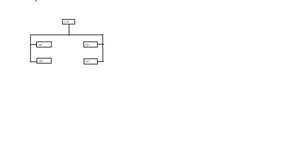 図のように、車にLEDを付ける際、並列接続?直列接続?どちらが無難でしょうか? 左右にLEDがあるのは、運転席側と助手席側にそれぞれ。LEDを付けるためです。