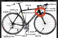 ロードバイクについて。画像の赤丸してあるところが少し固くなりました。原因は何ですかね?? ちょうど赤丸の可動域のところです。普通は90度ほど可動すると思いますが、固くなり動きにくくなっています。メンテ...
