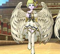 ドラクエ10の有料アイテム、天使のプリズムのコーデ組み合わせ例で一緒に載ってる衣装はなんていう衣装ですか?