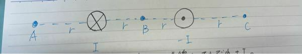 A,B,Cてんの磁界ってどう求めますか?
