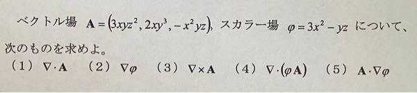 この問題の(4)(5)を教えてください!大学の数学・電磁気学の基礎問題です。よろしくお願いします。