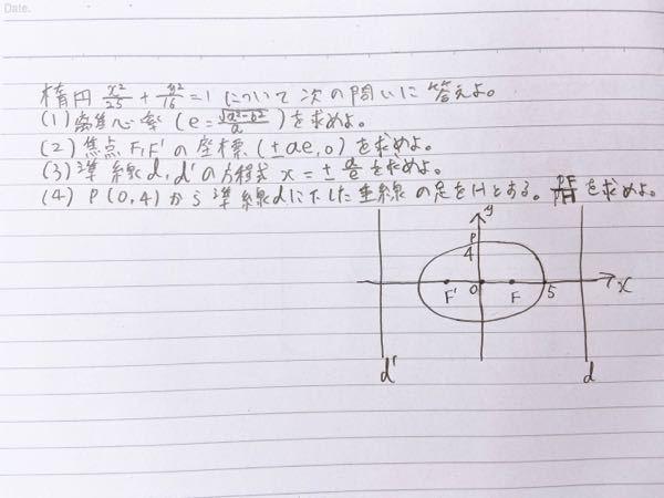 数学の楕円の問題です。 解法を教えてください。