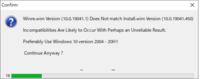 Win10XPE を使い WindowsPE を作っています。 毎回、添付の画像のメッセージが表示され Yes を押していますが、 設定などで、このメッセージを出さないようにできないでしょうか?