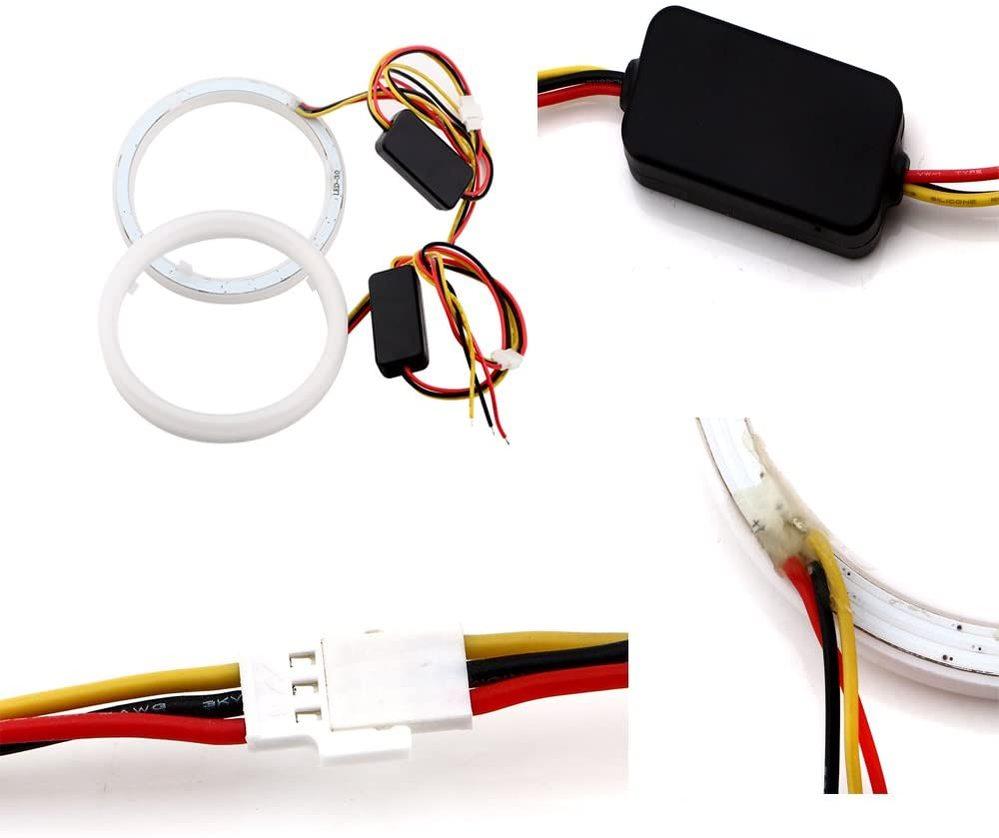LEDウインカーポジションを熱対策&延命のためドライバーで減光したいです。 単に1色だけなら抵抗やドライバーの交換だけで良いでしょうが、ウインカーポジションの場合マイナス黒線が共有されていて線が...