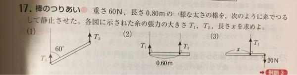 物理が得意な方に質問です。 この問題の(1)~(3)の回答、解説を教えてください。
