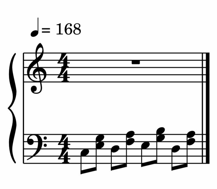 下の画像はアート・テイタムやオスカー・ピーターソンのソロでたまに演奏される左手のパターンですが、 この2人以外に使っている人を知りませんか?