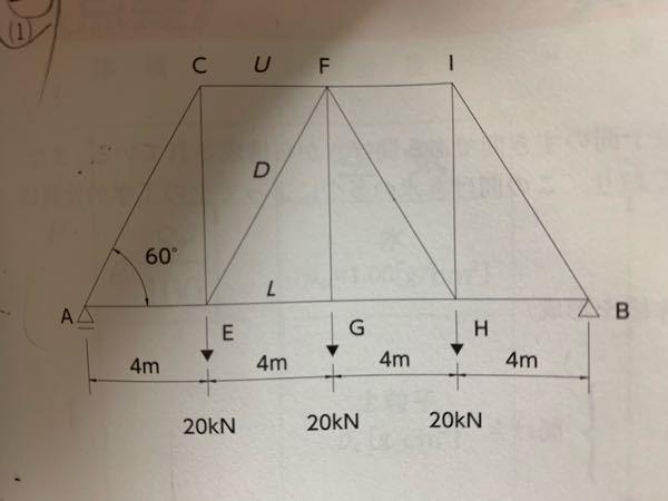 静定トラスの断面法の計算について。 土木の勉強をしている者です。下記の写真のトラスで断面法で切断後の部材のモーメントの向きが意味がわかりません。疑問点は2点あります。 1点目ですが、解答では ΣM