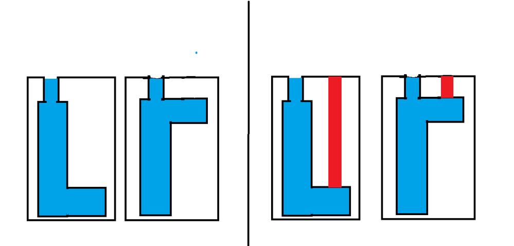 ロストワックスの鋳造で質問なんですが Ⅼ型の形のワックスの向きはL型、逆L型どっちが成功しやすいですか? あとガス抜き用の穴(赤)を作ったほうがきれいに仕上がりますか?