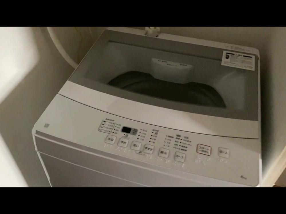 この洗濯機のメーカーや型番わかりますでしょうか? 右手前のロゴマーク?は多分「N」と書かれてると思います