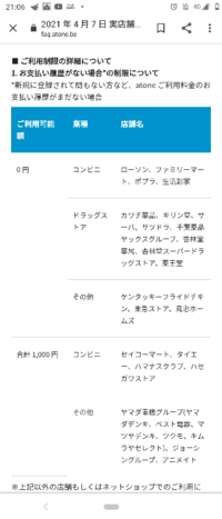 これってどういうことですか? atoneで本人確認は終了して、限度額は3万円と出ているのですが実際はいくら使えるのでしょうか?