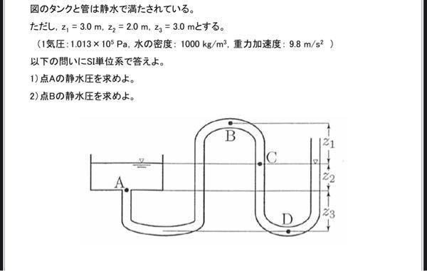 水理学に関する問題です わかる方いたら教えてくださいお願いします