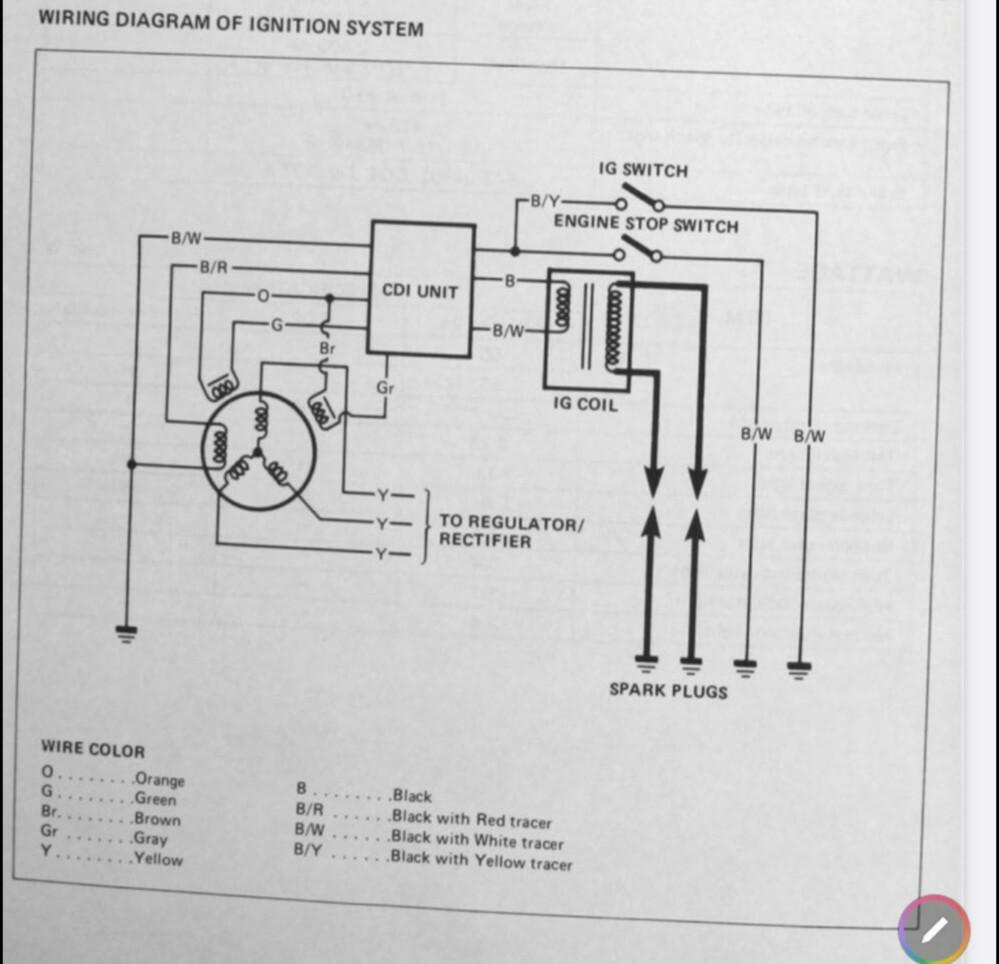 ご指導頂きたいです。 スズキのオフロード車DRのCDI点火不良原因追究をしています、IGコイル・CDIユニット・ピックアップコイル・メインSW・キルSW・スタンドSW・アース・途中配線等は問題ありません。 残るはパワーソースコイル(エキサイタコイル)のみです、焼け跡無しコイル導通ありますがクランキング時にCDIユニットへAC100V前後流れる筈なのですが0Vです。 (バッテリー車ですがレス...