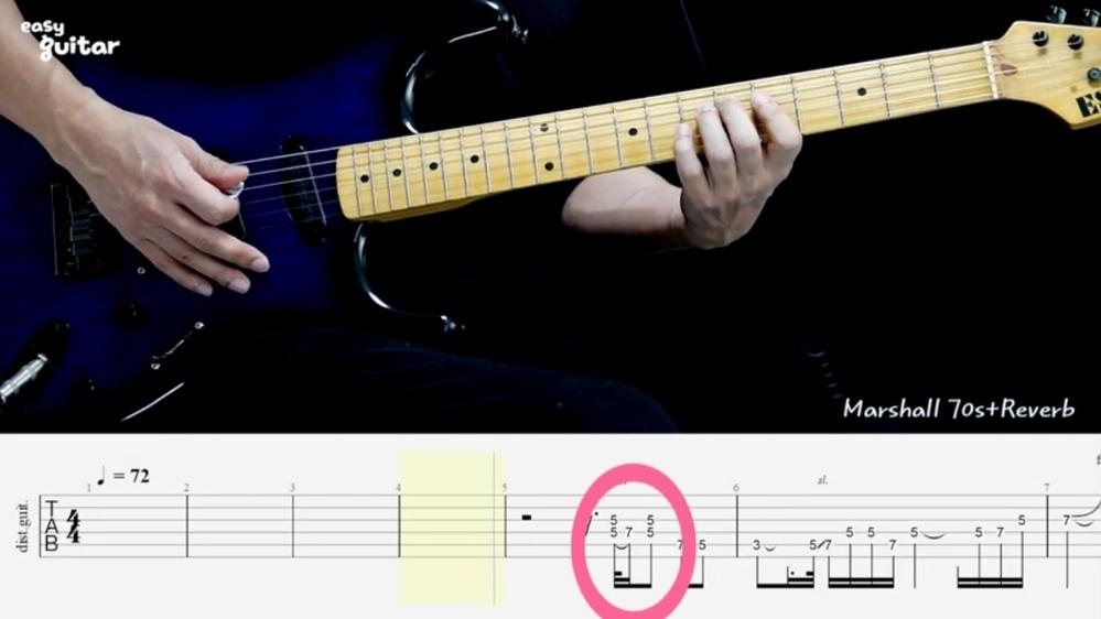 """ギターで""""Let it be""""を弾きたいのですが、この楽譜の読み方が分かりません(_ _) このピンクの丸が付いているところはどこを押さえればいいのでしょうか?"""