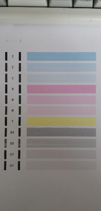 キャノンプリンタTS8230で強力クリーニングをやった結果、改善されずに印刷してもまだ掠れまくっているのですが、故障でしょうか?色が抜けまくってる感じです
