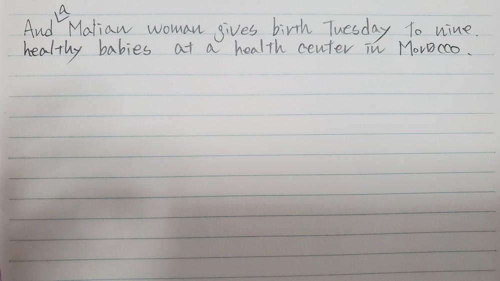 英語の文中の曜日の位置について この文はVOAから引用したものですが、なぜbirthのあとに曜日がきているのですか? 普通語順は場所→時間なので、この場合だとin Moroccoの後にきてそうなのですが……