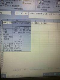 エクセル 統計 について t検定を用いてp値を求めたいのですが P値が写真のように数字で表示されません。 どうしてでしょうか?