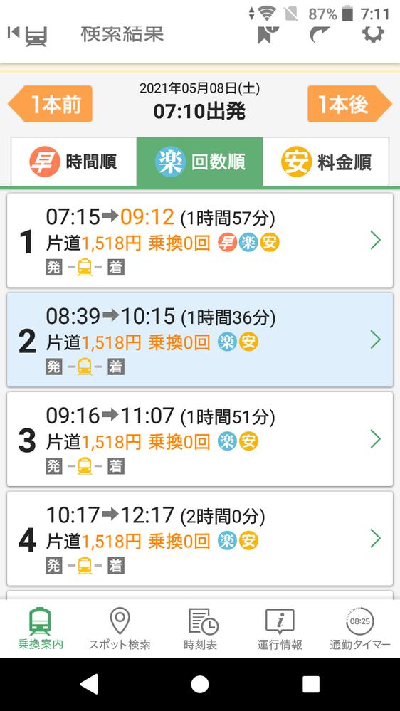 銚子~千葉までの所要時間が同じルートなのに結構違いますが、これは特急列車の通過待ちの関係ですか?