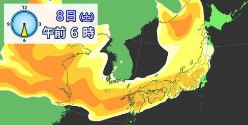黄砂は何故日本列島を覆う形で広がるのでしょうか?