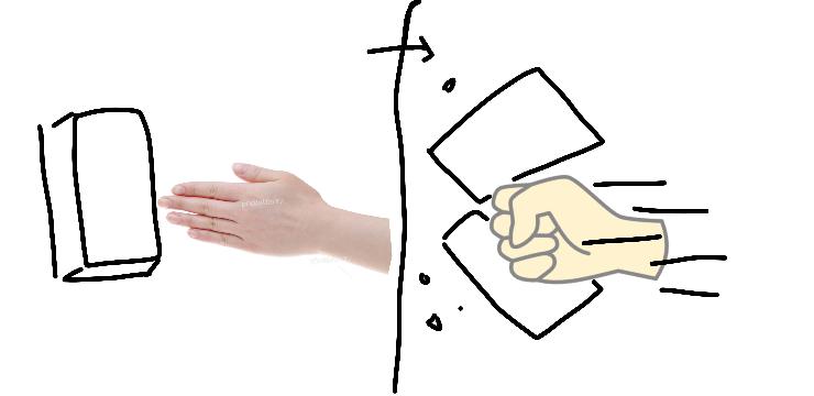 画像のようなパンチの名前を知りたいです。 (対象に指を向け、振りかぶったりせずにそのまま拳を突き出す)