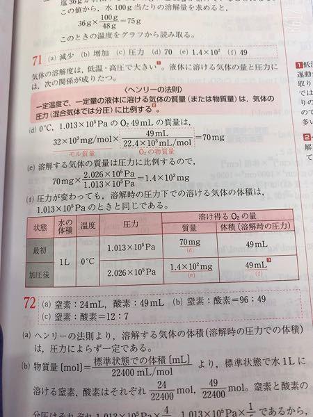 リードα化学71(d)の部分、何の公式を変形させてそうなったんですか??