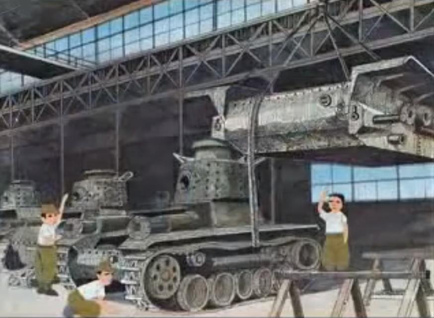 かなり昔の平和学習用の短編アニメ「ピカドン」、 タイトル通り広島への原爆投下がテーマですが投下前の広島市民たちの日常描写のシーンで軍需工場の場面があり製造中の九七式中戦車(旧砲塔?)らしき車両が映るのですが、当時の広島市内の軍需工場で九七式が製造されていた事実はあるのでしょうか?詳しい方お願いします。
