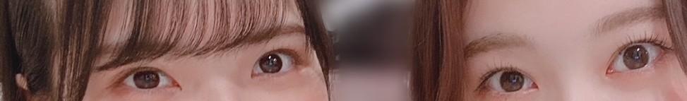 坂道パーツクイズ其の340 画像の現役または元坂道メンバーは 左右それぞれ、誰と誰でしょう?