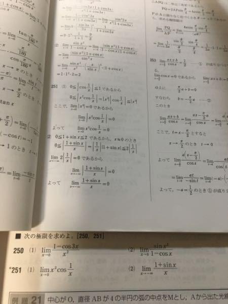 251番(1)の上から二行目は何をしているのか? また(2)ではなぜ≠0のときを調べる必要があるのですか?(1)は必要ないのですか?