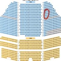 劇団四季のアラジンについてです。 前回2階席の最前列で観劇して、今回は一階席がいいなと思い、赤丸で囲んである辺りにしようか迷っているのですが、ここら辺の席からの観劇はどんな感じなのでしょうか? 少し右寄りの席なので、見えにくかったり、首が痛くなってしまう等ありましたら教えていただきたいです。