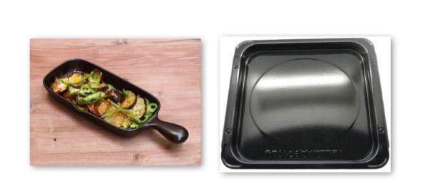 教えてください。 グリルプレートで右のような料理をオーブンで、作りたいんですけど、左の角皿の上にそのまま直置きしてオーブンで熱して大丈夫ですか? プレートはオーブン可と書いてあります。 あまりこういうのを作らないので初歩的な質問ですみません。