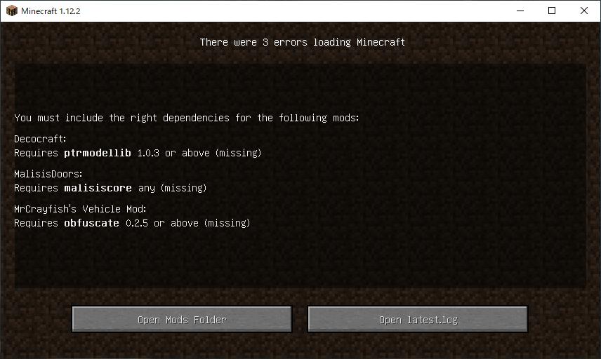 これどうゆうことですか? この画面が出てきてminecraftが開けません。