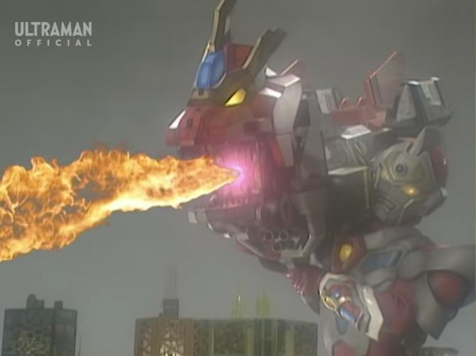『メカバギラに向け、強力な超高熱火炎を発射するドラゴニックキャノン』 数ある特撮作品の中で「炎を出すヒーローの武器」と聞き、思い浮かべたのは何ですか?