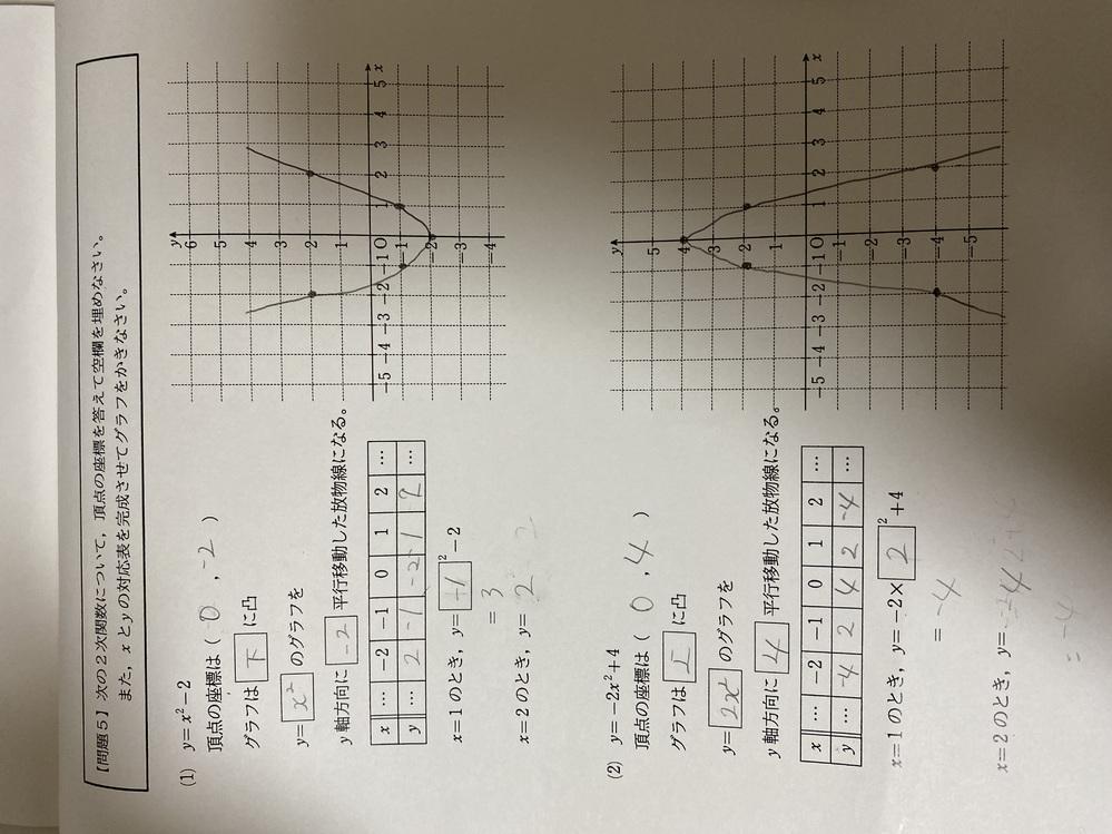 数学の問題なのですがこれであってますか? 間違ってたら答えも教えてください