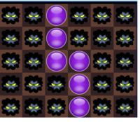 パズドラで添付の画像の消し方だと、なぜ闇ドロップは1コンボになるのでしょうか? つながっているドロップは横に2つだけなので2コンボになると思うのですが 説明出来る方お願いします。